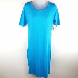 Lularoe Julia T Shirt Dress Size M Aqua Blue New